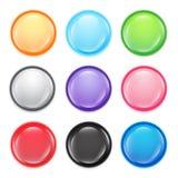 绿色按钮 库存照片