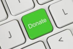 绿色捐赠按钮 库存照片