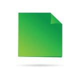 绿色提示例证的例证 免版税库存照片