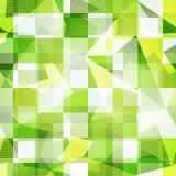 绿色摆正无缝的样式 免版税库存照片