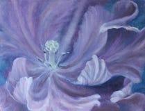 紫色摘要开放花 库存图片