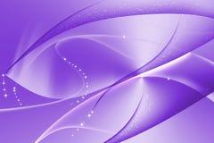 紫色摘要有波浪和曲线背景 库存图片