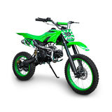 绿色摩托车越野赛自行车 免版税库存图片
