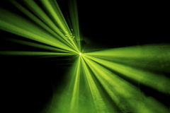 绿色放光明亮的阶段照明设备 免版税库存图片