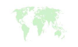 绿色政治世界地图例证 库存照片