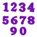 紫色数字 免版税图库摄影