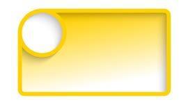 黄色文本框架 皇族释放例证