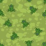 绿色斑点青蛙飞溅的样式 免版税图库摄影