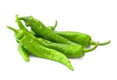 绿色新鲜的辣椒 免版税库存照片