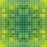 绿色方形的马赛克无缝的背景 库存图片