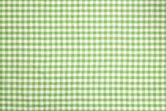 绿色方格的桌布背景 图库摄影