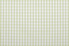 绿色方格的织品 免版税库存图片