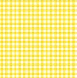 黄色方格花布 库存图片