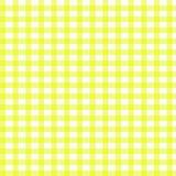 黄色方格花布 免版税库存图片