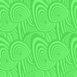 绿色无缝的卵形样式 免版税库存图片