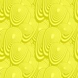 黄色无缝的卵形样式 免版税库存照片
