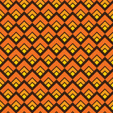 黄色无缝的方形的样式背景 免版税库存图片