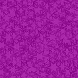紫色无缝的星背景 库存例证