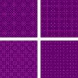 紫色无缝的样式墙纸集合 向量例证