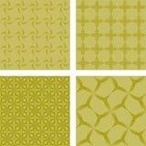 黄色无缝的样式背景集合 免版税库存照片