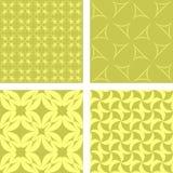 黄色无缝的样式集合 免版税库存图片