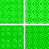 绿色无缝的样式集合 免版税库存图片