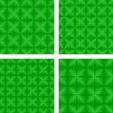 绿色无缝的样式集合 库存例证