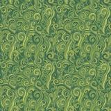 绿色无缝的模式 与草的背景 图库摄影