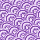 紫色无缝的漩涡样式 免版税库存图片