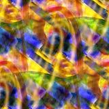 黄色无缝的立体派抽象派毕加索 库存照片