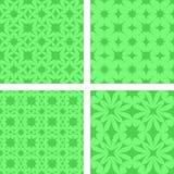 绿色无缝的背景集合 免版税库存照片