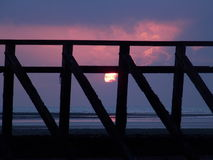 紫色日出 图库摄影