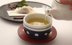 绿色日本茶 免版税库存照片