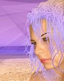 紫色时尚 免版税库存照片