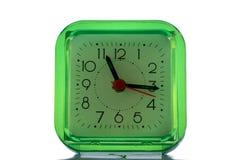 绿色时钟 免版税库存照片