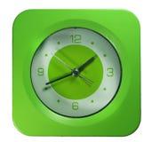 绿色时钟 免版税库存图片