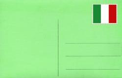 绿色明信片 免版税图库摄影