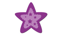 紫色星形 免版税图库摄影
