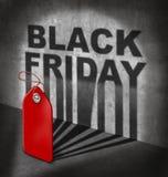 黑色星期五销售额 库存照片