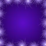 紫色星烟花框架 库存照片