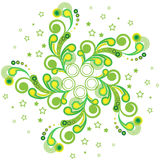绿色星装饰品 库存图片