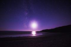紫色星系 图库摄影