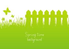 绿色春天背景 库存例证