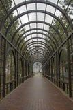 绿色曲拱在公园 免版税库存图片