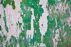 绿色有凸起的油漆的压印的墙壁。纹理。 免版税图库摄影