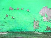 黄色有难看的东西混凝土地板的被绘的墙壁 免版税图库摄影