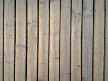 黄色木地板行  免版税库存照片