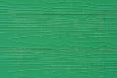 绿色木墙壁纹理  免版税库存照片
