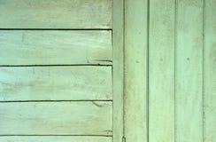 绿色木墙壁背景 库存图片
