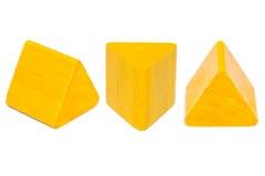 黄色木形状 免版税图库摄影